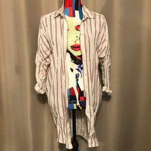 Maje Paris oversized striped shirt/ shirt dress